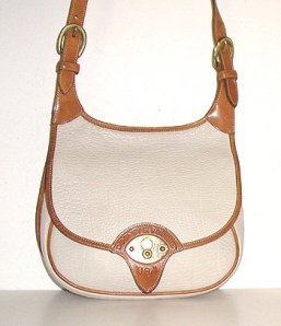 Bone and British Tan Cavalry Saddle Bag
