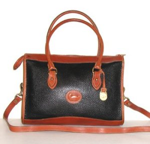 Black and British Tan Shoulder Satchel