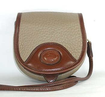 Vintage Belt Bag Style B700 Taupe with Burnt Cedar trim